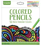 #7: Crayola Colored Pencils, 50 Count, Vibrant Colors, Pre-sharpened, Art Tools, great for Adult Coloring