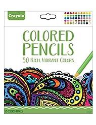 Crayola Colored Pencils, 50 Count, Vibrant Colors, Pre-sharpe...