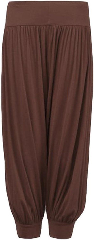 Ivans ladies harem trousers plus size 16 harem trousers stretch brown black