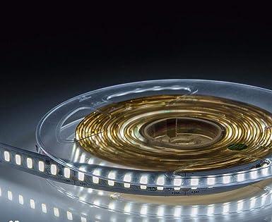 Tira LED SMD5630 190W 24V Ultra Brillante 12mm 5 metros blanco frio 20000 lumen 2188