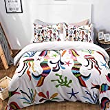 MOVE OVER Mermaid Bedding Mermaid Duvet Cover Set Colorful Mermaid Printed White Bedding Teen Bedding Sets for Girls Queen-(90''x90'')-(1 Duvet Cover+2 Pillowcases)(Queen,Mermaid)