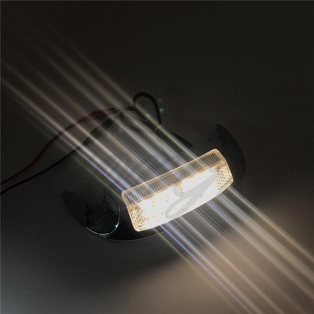 B076V1D9D4 HONGK Front LED Fender Tip Light Clear Lens Compatible with Harley FLHX FLHR 14 15 16 17