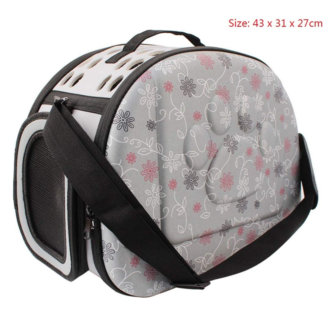 6 43 x 31 x 27cm 6 43 x 31 x 27cm Pet Dog Carrier Foldable Outdoor Travel Carrier for Dog Puppy Cats Carrying Carrier Dog Bag Kennel Animal Pet Supplies