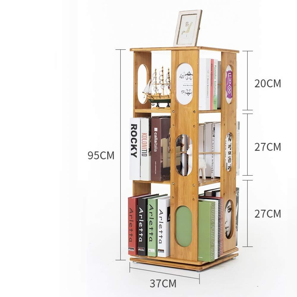 nouler 360 Degree Rotation Simple Bookshelf Shelf Multi-Storey Floor Student Dormitory,Three Floors,Oval