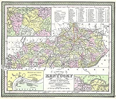 Thomas Eakins - Map of Kentucky Geographicus