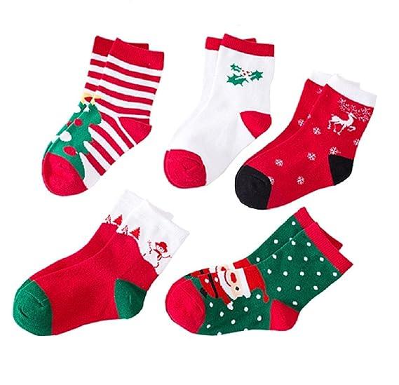 christmas cotton socks unisex boys girls holiday sock for gift toddler childrens socks