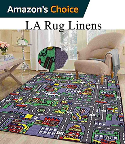 8x10 Kids Boys Children Toddler Playroom Rug Nursery Room Rug Bedroom Rug Fun Colorful ( City Map ) by LA Rug Linens (Image #6)