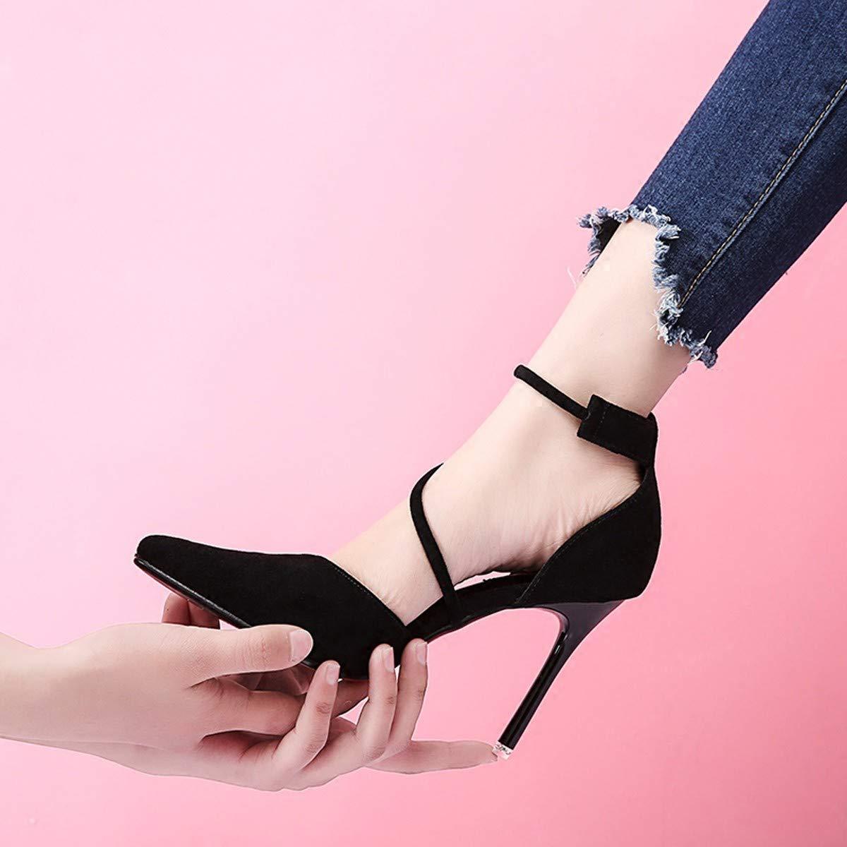 LBTSQ-Hochhackige Schuhe Single 10cm Spitz und dünn mit mit mit Einem Gurt schnallt Alle Arten von damenschuhen. 1649be