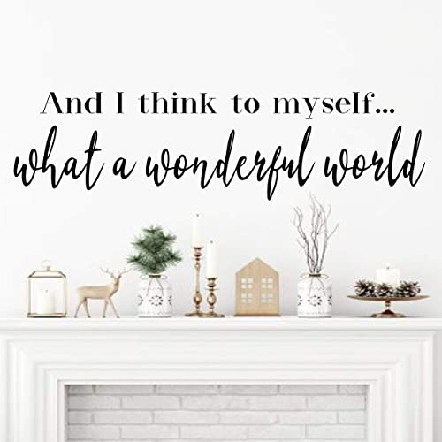 Superb Inspirational Vinyl Decor Quote Lettering | U0027What A Wonderful Worldu0027 Song  Lyrics | For Living Room, Bedroom Headboard, Entryway | Black, White,  Brown, Red, ...