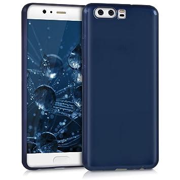 kwmobile Funda para Huawei P10 - Carcasa para móvil en [TPU Silicona] - Protector [Trasero] en [Azul Brillante]