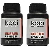 Kodi Professional SET 2 bottles Rubber Base 30ml. + Rubber Base 30ml. / 1.01 fl oz without brush Gel LED/UV Nail Polish…