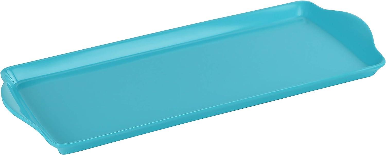 Calypso Basics by Reston Lloyd Melamine Tidbit Tray, Turquoise