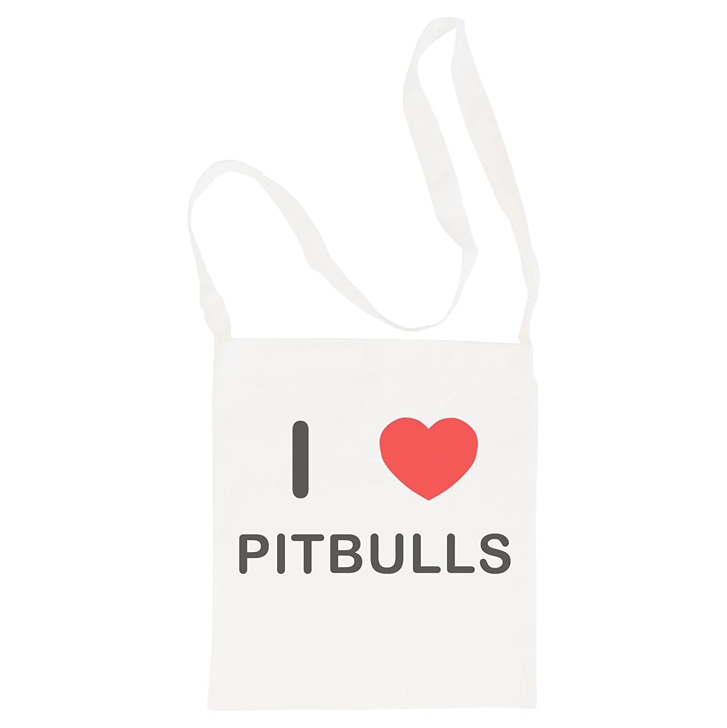 Cotton Maxi Shopping Bag I Love Pitbulls