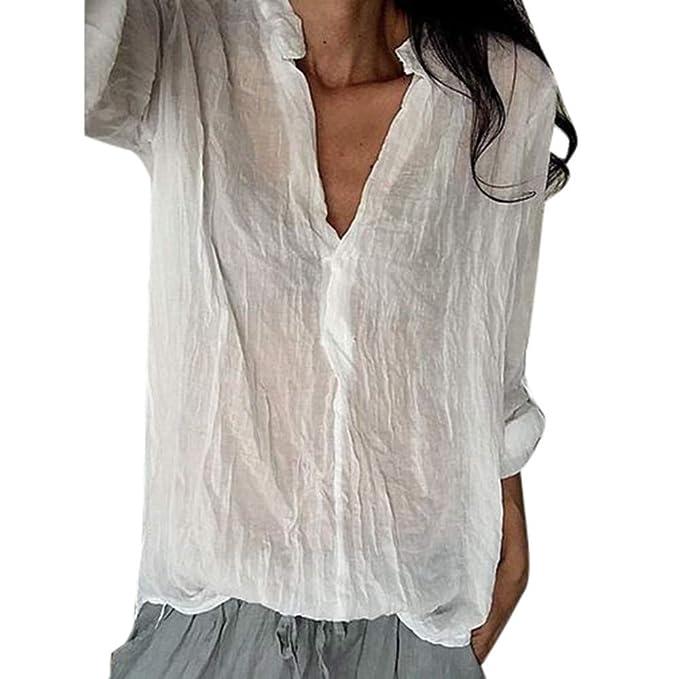 ALIKEEY-Top Shirt Blusas Mujer Tallas Grandes Verano 2018 Ropa Camisetas Mujer Manga Larga,