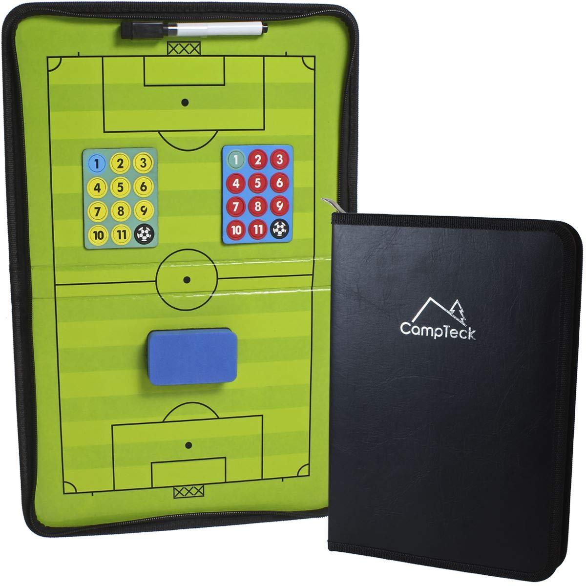CampTeck U6942 Pizarra Magnética Futbol Pizarra Tactica Futbol Coachboard de Entrenamiento de Fútbol con Rotulador y Borrador - Negro