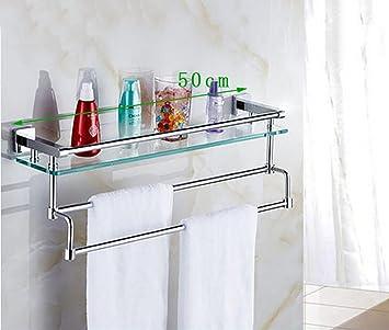 Badezimmer Regal Badezimmer Glas Einschicht-Regal Wand hängen ...