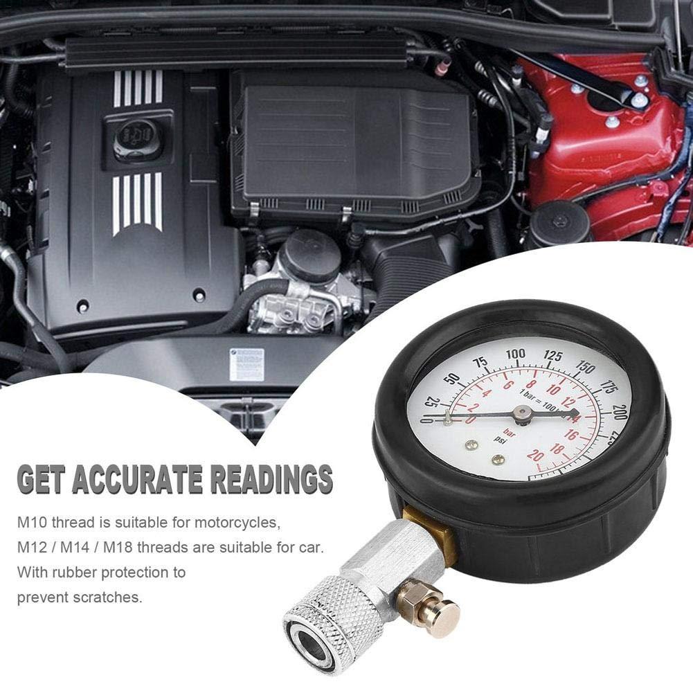 AITOCO 8 unids Gasolinera Profesional Kit de Medidor de Compresi/ón de Cilindro de Gasolina Automotriz Herramienta de Diagn/óstico Medidor de Presi/ón del Cilindro