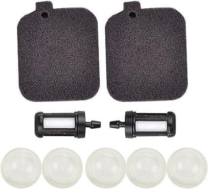 Air Filter Fuel Filter Primer Bulb for Stihl BG45 BG46 BG55 BG65 BG85 BR45C SH55 SH85 Blower 42291201800