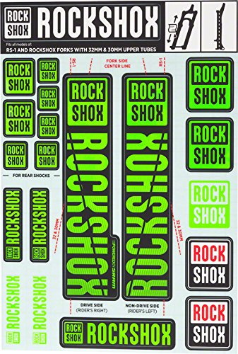 RockShox Decal Kit - 30/32mm Green, 30/32mm, SID, Reba, Revelation