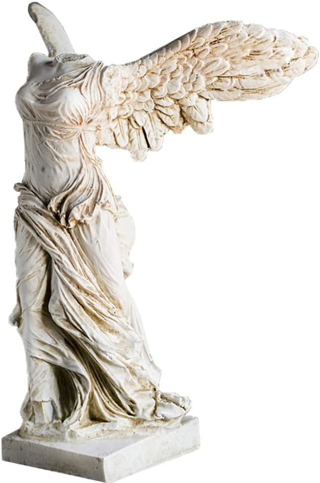 Table Museum,Winged Victory of Samothrace Statue Goddess Sculpture from The Louvre Museum-Grade Masterpiece Replica-White 31x23x17cm(12x9x7inch)