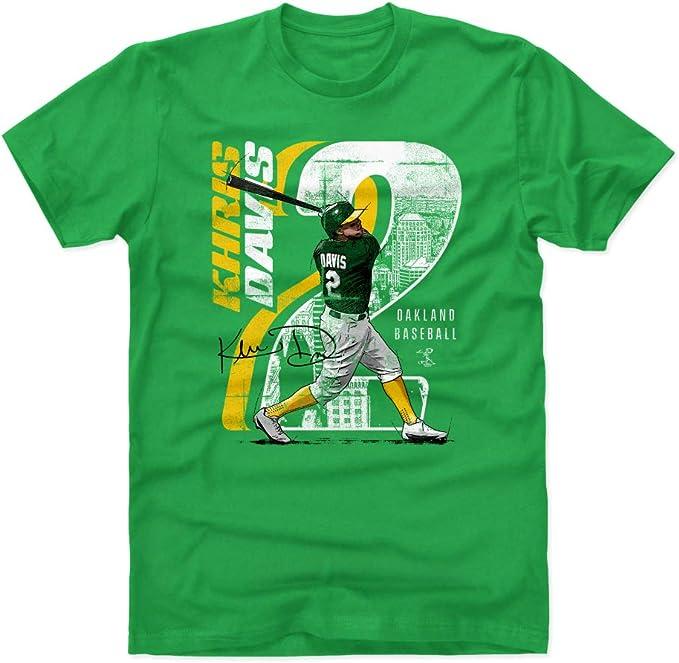 Khris Davis - Camisa de béisbol para Hombre (500 Niveles), Atlético, Medium, Verde Kelly: Amazon.es: Deportes y aire libre