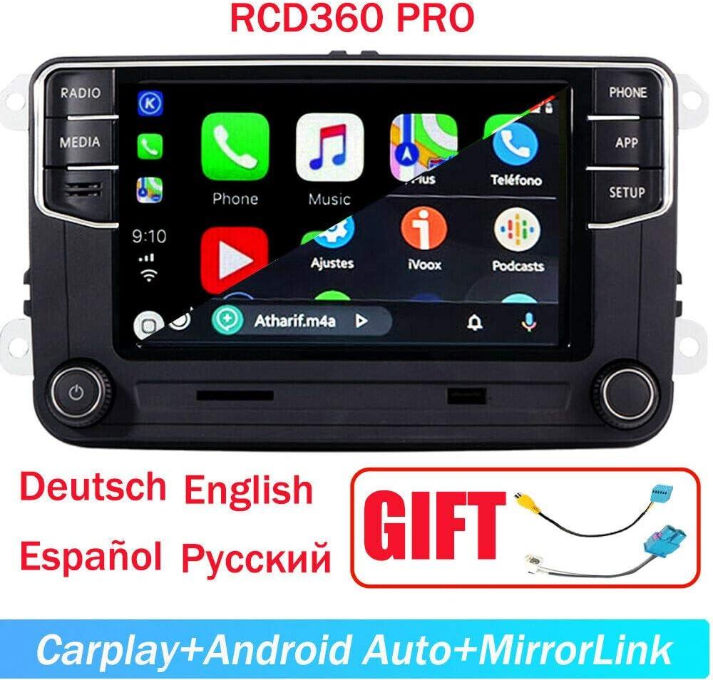"SCU-MAXCON 6.5"" Car Stereo OEM MIB2 RCD360 Pro Carplay Androidauto Bluetooth RVC SD-Card Touchscreen for VW Jetta Tiguan Passat Caddy Golf EOS Passat Touran"