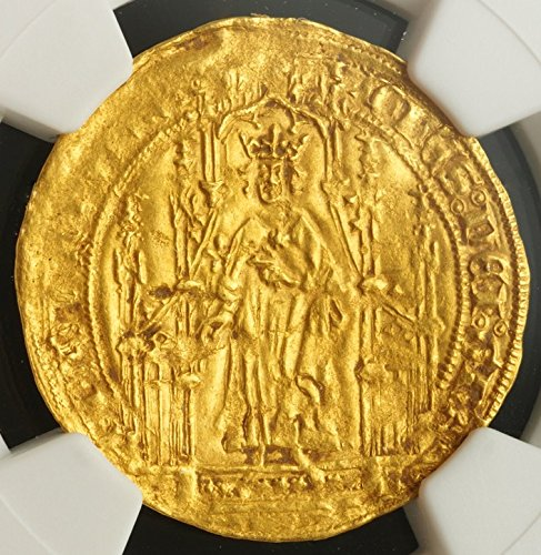 Certified Gold Coin - FR 1350-1364 AD France Medieval Gold French Coin of the Middle Ages Authenticated and Graded France Royal AU58 NGC