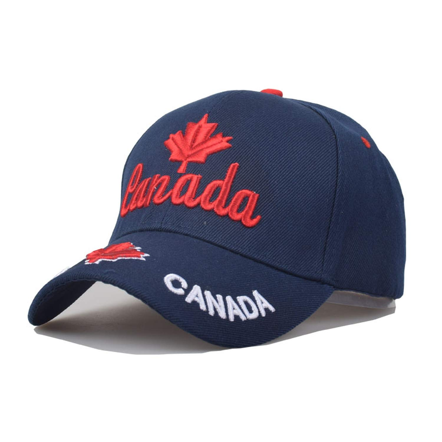 Canada Flag Eagle Embroidery Baseball Cap Cotton Cap Casquette Hat Fitted Casual Gorras Dad Hats for Men Women at Amazon Womens Clothing store: