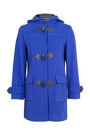 8935b9228d075 De La Creme - Royal Blue Womens Wool   Cashmere Winter Hooded Duffle Coat  Size 10