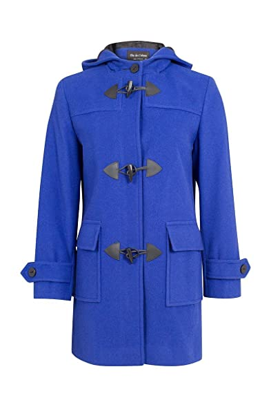 AW13* Womens Ladies Royal Blue Wool & Cashmere Winter Duffle Coat ...