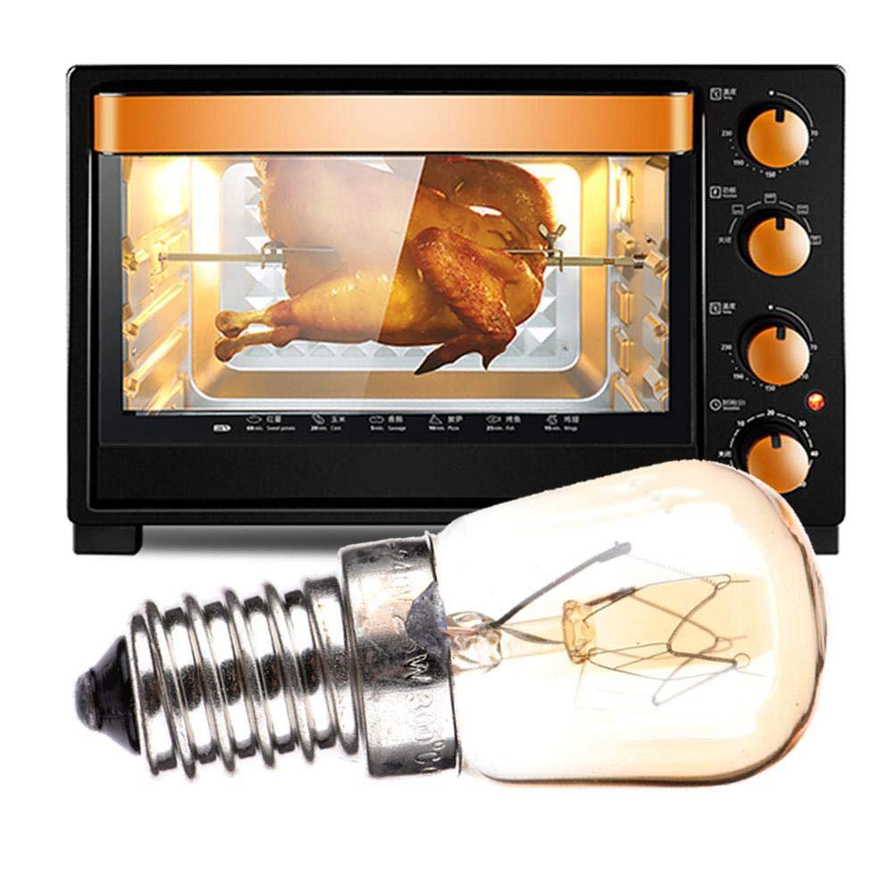 Chalkalon Oven Cooker Hood Bulb Lamp E27 40W Warm White Cooker Bulb Led Lamp Heat Resistant Light 110-250V 500/°C