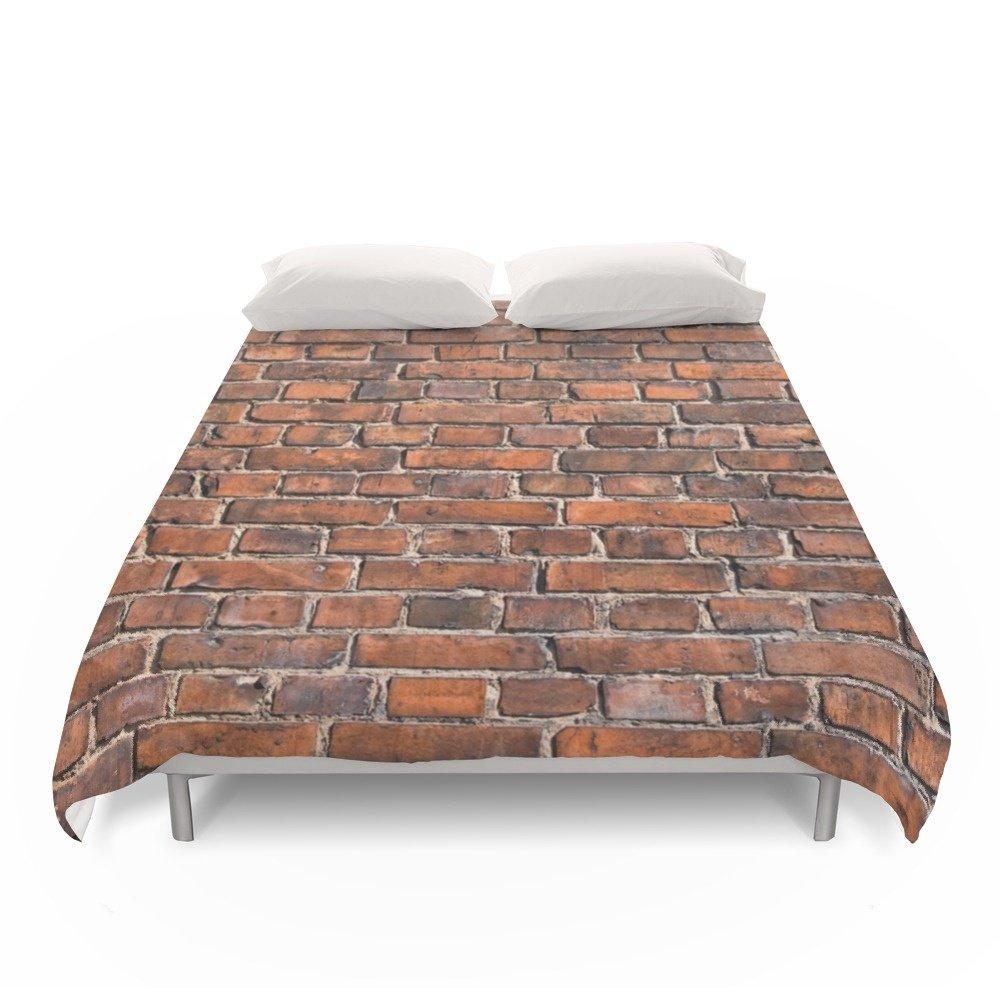 Society6 Texture - Brick Wall Duvet Covers Full: 79'' x 79''