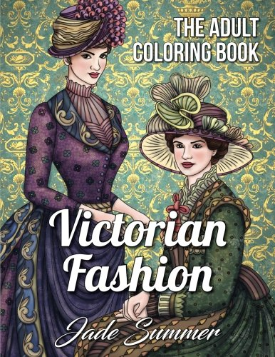 Victorian Fashion Coloring Beautiful Historical product image