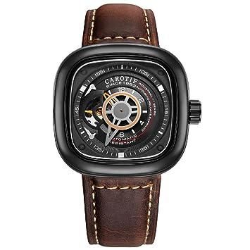 WWAVE Relojes para Hombre Relojes Moda Deportes Lujoso Estilo Acero Inoxidable Resistente al Agua mecánico Reloj para Hombre Hueco: Amazon.es: Jardín