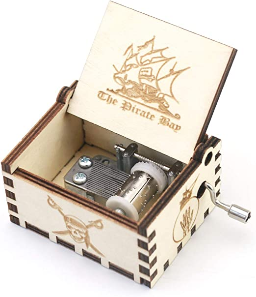 Youtang Caja de música Tallada de Madera manivela Caja Musical ...