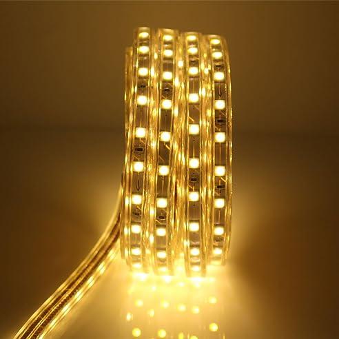 LED Streifen 6 Meter mit Schalter, 5050 Led Strip, IP65, 220V ...