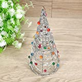 Muhan Iron Wire Xmas Tree Festival Party Ornaments Desk Office Decoration Christmas Gift
