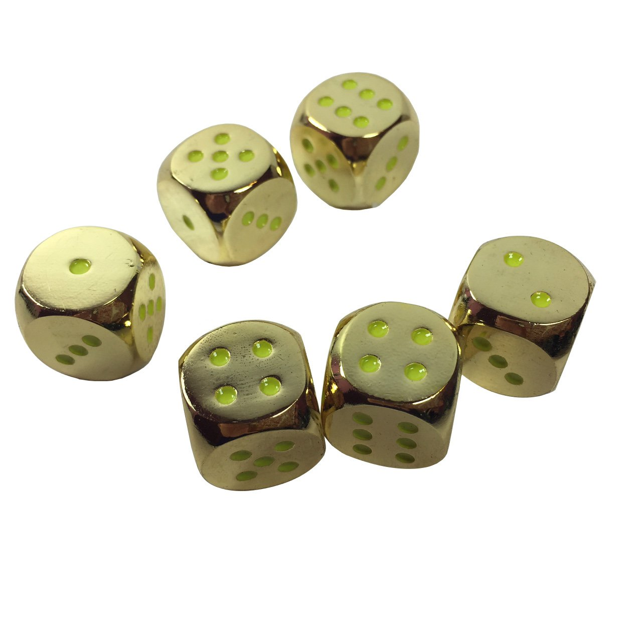 D6 pokerweights LYSB019MO9MN0-SPRTSEQIP 16mm Poker Weight Set of 6 Solid Zinc Alloy Metal Dice