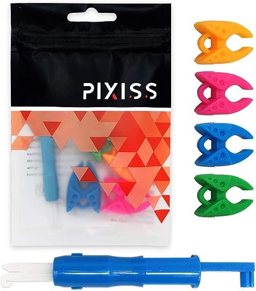 Pixiss - Agujas de coser y enhebrador, 10 bastoncillos de limpieza ...