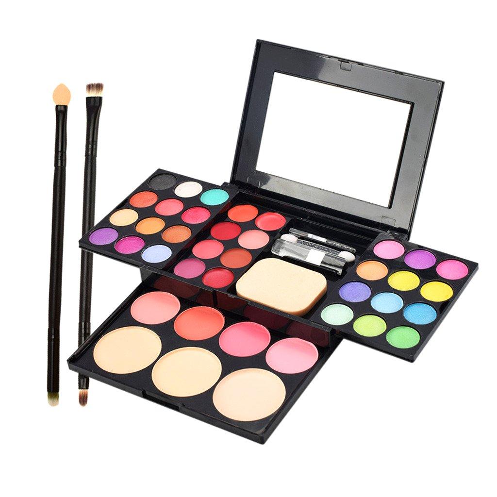 Facial Concealer Cream Lip Gloss Eyeshadow Cheek Blush Makeup Palette Case Non-brand