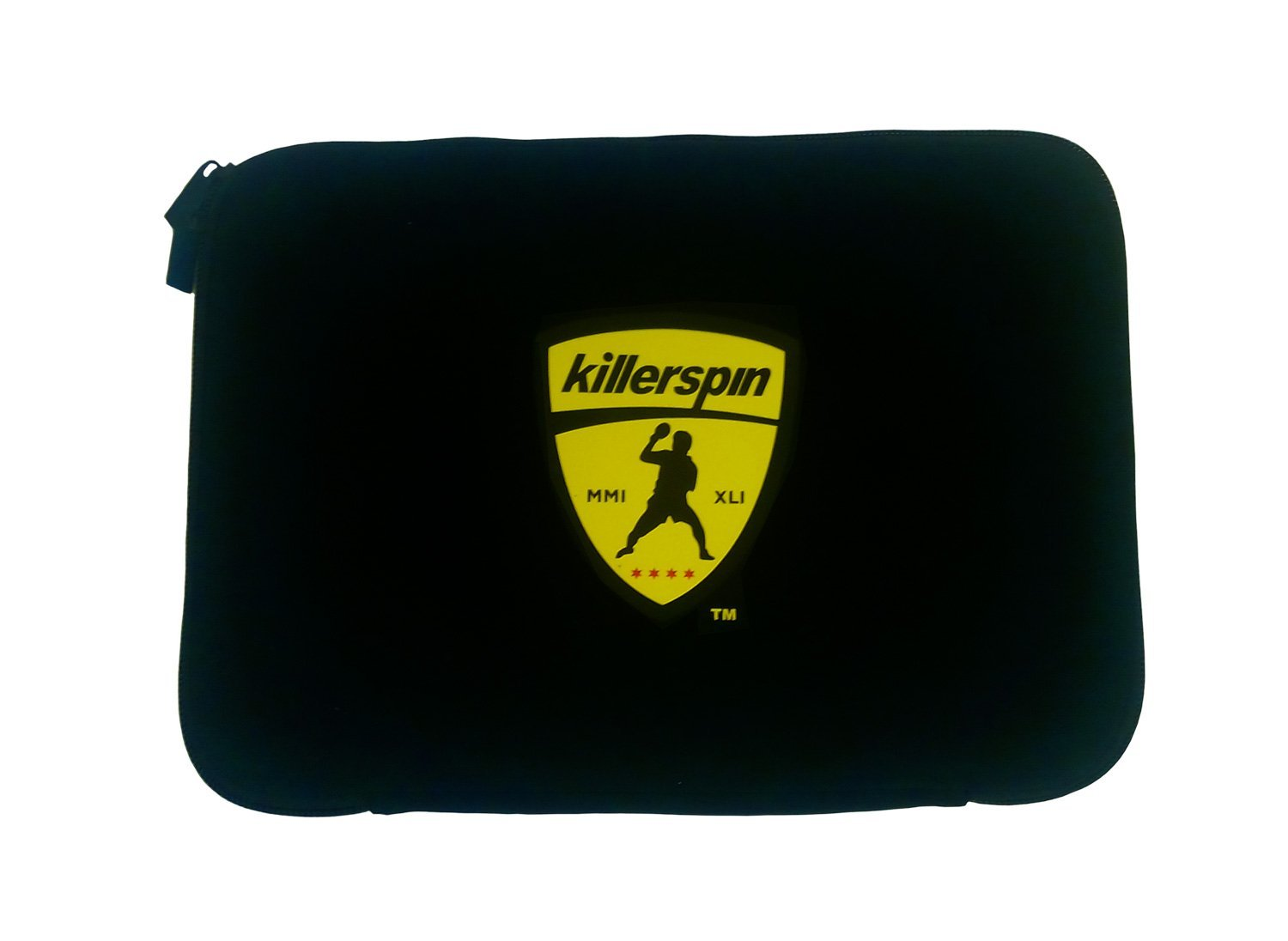 Killerspin Black sleeve Table Tennis Paddle Bag - Ping Pong Case for 4 Paddles Secured With Elastic Fastener