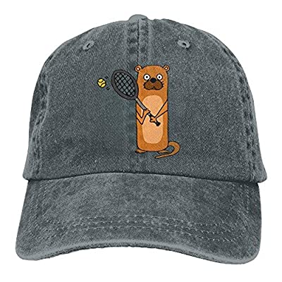 Eveler Baseball Jeans Cap Sea Otter Playing Tennis Unisex Snapback Casquettes Adjustable Dad Hat