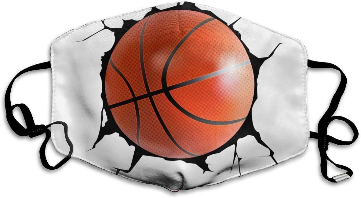 N/A Ball Coming In agrietada pared sueño baloncesto mascarillas negras lavables y reutilizables para mujeres, hombres, niñas y niños, para ciclismo, viajes personalizados