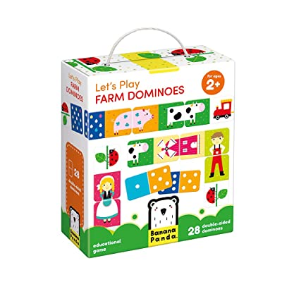 Banana Panda - Let's Play Farm Dominoes - Classic Kids Game with Three Ways to Play for Ages 2 Years and Up: Toys & Games