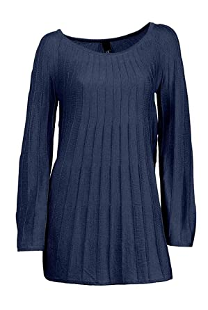 Heine Best Connections Damen Pullover Longpullover Blau