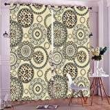 Two Panel Set Window Curtain Animal Print African Safari Patterns Cheetah Skin Print Wild Theme Neutral Color Decorati Polyester Window Treatments For Bedroom Diningroom Livingroom Dorm, 108''Wx84''L