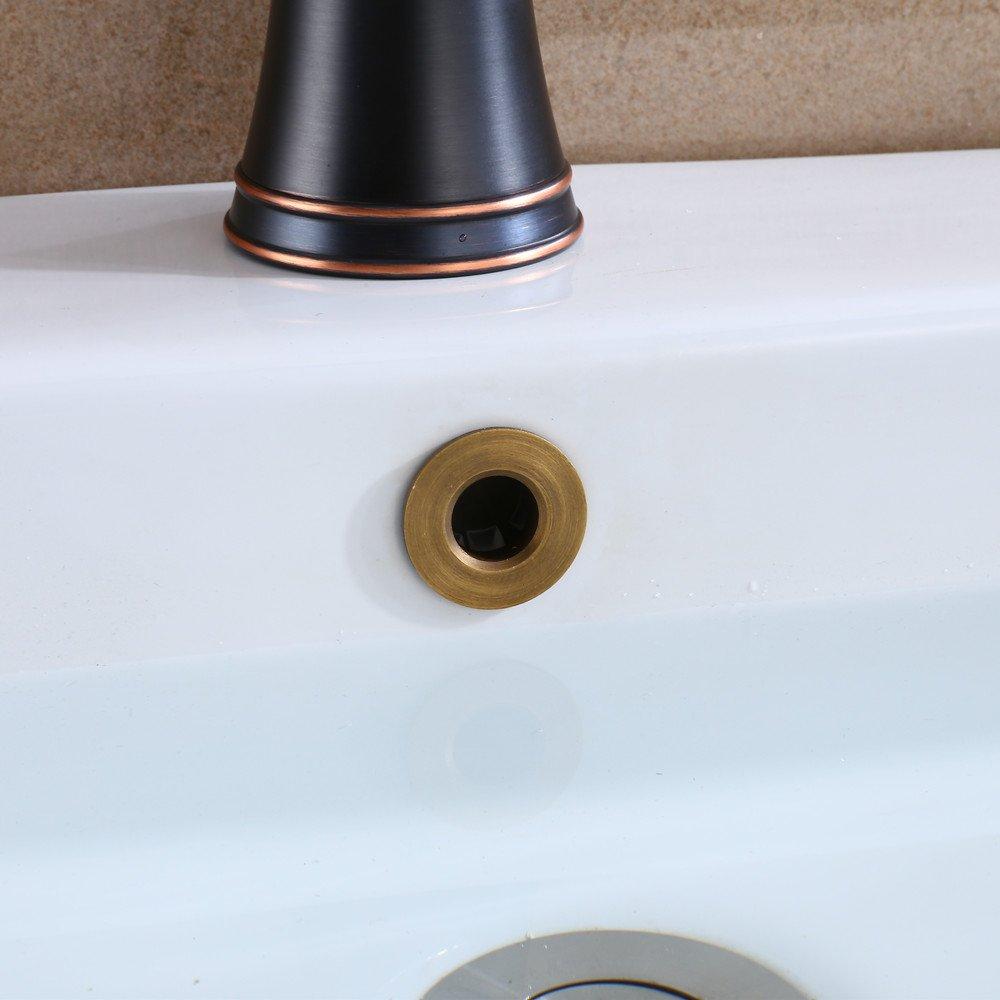 YUTU YSK05 Antique Brass Bronze Overflow Drain Cover Hole Basin Sink Brushed Bathroom 0.92-1 YUTU Home Improvement Company