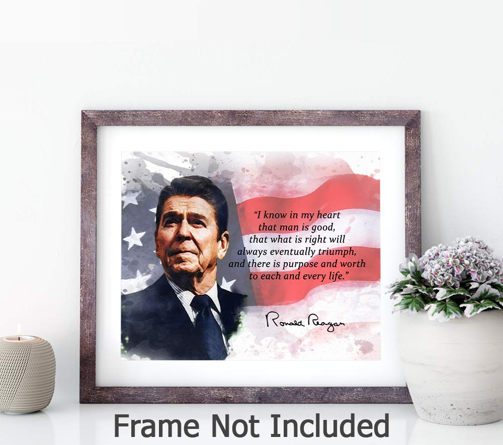 Ronald Reagan Quotes Wall Art Stunning Inspirational USA President Room Wall Decor 8x10 Unframed Art Print