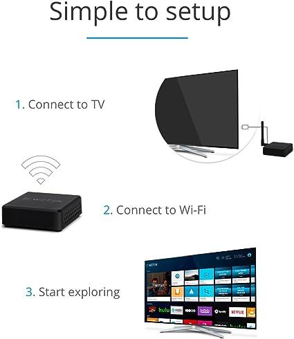WeTek Hub Android y Smart TV box Bluetooth 4.0 Ultra HD 4k ultracompacto y discreto: Amazon.es: Electrónica