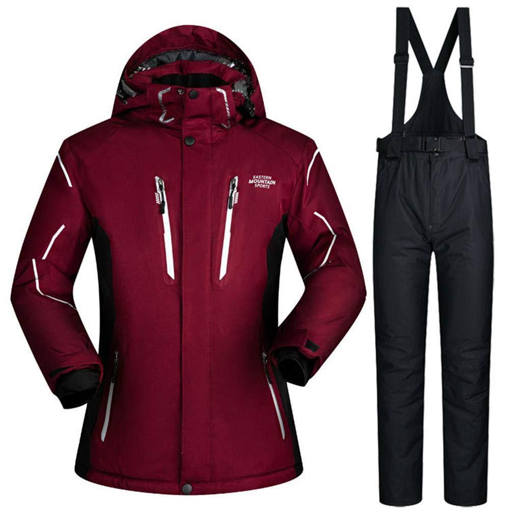 Vin rouge 3XL Hook.s Pantalon de Ski + Bretelles de Ski pour Hommes